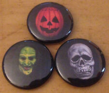 "HALLOWEEN III lot of 3 1"" pins  buttons  #2 silver shamrock season of the witch"