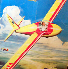 "Vintage SCHWEIZER 1-23 54"" Span TowLine Glider Free Flight Model Airplane PLAN"