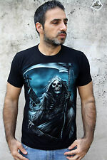 RockEagle T Shirt Skull & SPIT Gothic CEMETERY  Emo Black Cotton T-Shirt Tee M