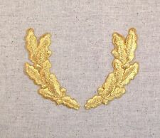Iron On Embroidered Applique Patch Military GOLD Scrambled Eggs Uniform Officer