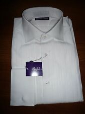 NWT $595 RALPH LAUREN PURPLE LABEL WHITE TUXEDO SHIRT SZ 15, MADE IN ITALY
