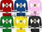 MIGHTY MORPHIN POWER RANGERS ADULT SUPER HERO TV SHOW LONG SLEEVE TEE T SHIRT