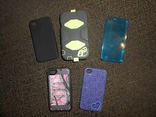 Iphone 4 Cases, lot of 5, Camo Defender, Otterbox w belt clip, silicone