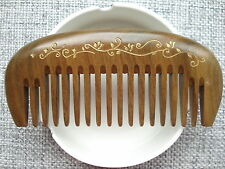Extra thick comfortable wide toothed green sandalwood comb ideal gift