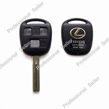 Gold Logo Replacement Key Case Shell Keyless Remote Fob Uncut Blade for Lexus