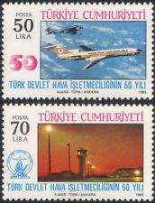 Turkey 1983 Aviation/Planes/Aircraft/Airline/Airport/Buildings 2v set (n44892)