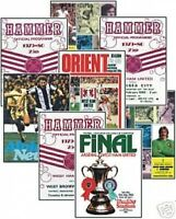 West Ham 1980 FA Cup Programme Trading Card Set