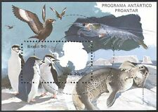 Brazil 1990 Antarctic/Penguins/Seals/Marine/Animals/Birds/Conservation m/s b220