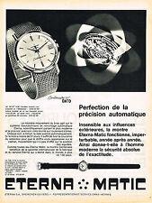 PUBLICITE ADVERTISING 044  1962  ETERNA- MATIC   montre DATO