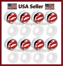 8 Chrome Red Lips/kiss License Plate/Frame Car/Motorcycle cover Fastener Caps