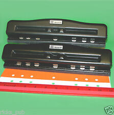 MUTUAL 20 Adjustable 2●3●5●7 Hole PAPER PUNCH Organizer Day-Timer Franklin Covey