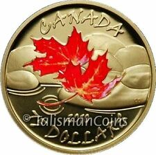 Canada 2010 Four Seasons Autumn Fall $75 Gold Proof Color Maple Leaf GML