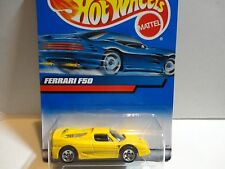 2000 Hot Wheels #161 Yellow Ferrari F50 w/5 Spoke Wheels