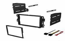 Double Din Dash Kit Stereo Radio Installation Install Kit w/ Wire Harness
