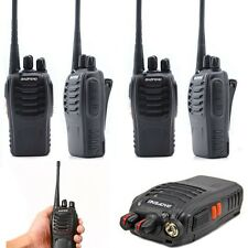 4PCS Walkie Talkie 2Way Radio UHF 400-470MHZ 16CH 5W Long Range Earpiece Headset