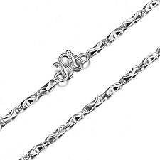 "Genuine Solid Sterling Silver Glitter Chain Super Men's Necklace 3mm 20"" N027"