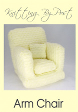 Knitting Pattern Doll / Teddy Bear Arm Chair. Novelty Pattern for Toys & Softies