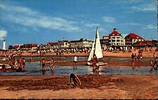Noordwijk aan Zee Postkarte ~1950/60 Strandpartie am Kon. Wilhelmina Boulevard