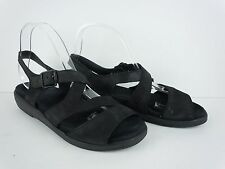 Womens MEPHISTO Black Leather Strappy Walking Sandals Size EU 39 US 9 M