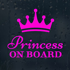 Princess On Board Car Decal Vinyl Sticker