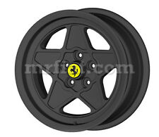 "Ferrari 208 308 GT4 GTB GTS Black Five Spoke Ferrari Style 16"" Wheel Set 4 New"
