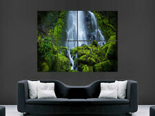WATERFALL JUNGLE STREAM POSTER BEAUTIFUL COLUMBIA FOREST RIVER LARGE GIANT