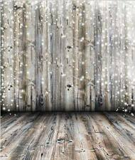 CHRISTMAS WOOD BOKEH LIGHTS BACKDROP BACKGROUND VINYL PHOTO PRO 5X7FT 150x220CM