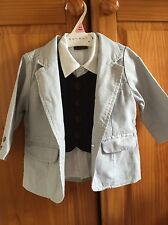 Next shirt Jacket and waistcoat set baby boy size 6-9 months Occasion Wear