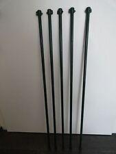 5x grüne UNIVERSALBEFESTIGUNGS-PFLANZSTÄBE aus Metall