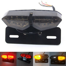 Motorcycle Tail Light LED Integrated Brake Smoke Turn Signal License Plate Lamp