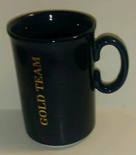 Navy Blue Collectible Coffee  Mug Gold Team Made In England