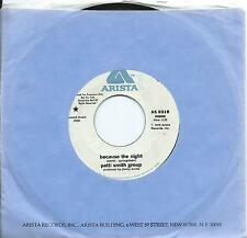 "PATTI SMITH USA promo 7"" 45 BECAUSE THE NIGHT on Arista, Springsteen song, type"