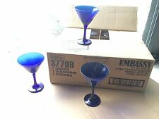 Libbey 3779 b  Embassy 9.25 oz. Martini Glass 12/Case Rare, Cobalt Blue