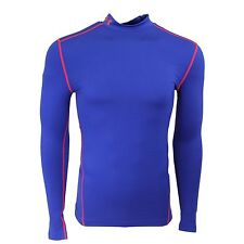 Under Armour Men's ColdGear Compression Mock Shirt Cobalt/Orange L