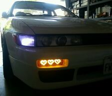 89-94 Nissan 240SX Silvia 180SX LED Hearts Bumper Lights Turn Signal
