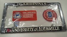 Officially Licensed University of Louisville Cardinals Metal License Plate Frame
