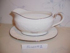 NEW Noritake HALLS OF IVY PLATINUM Gravy Boat & Liner - BRAND NEW IN BOX