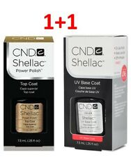 CND Shellac Set UV Top & Base Coat Power Polish 0.25 fl oz 7.3ml