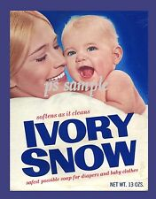 IVORY SNOW Marilyn Chambers - Vintage Ad Flexible Fridge MAGNET