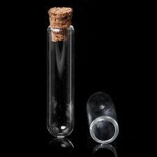Tube à essai flacon en verre avec bouchon-bouteille liège - 40x10mm (qté x 5)