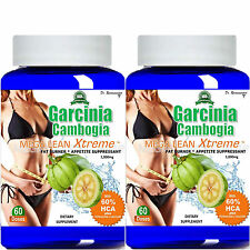 2- 100% Pure Garcinia Cambogia Extract Mega Extreme 1000mg Pure HCA Weight Loss