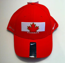 Team Canada 2014 Winter Olympics Hockey Red Flex Fit Hat Cap Sochi Double Gold