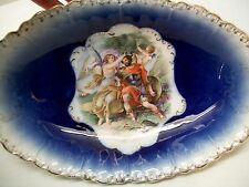 Royal Bavarian PMB China Germany Bowl Blue with Warrior Gladiator and Angels