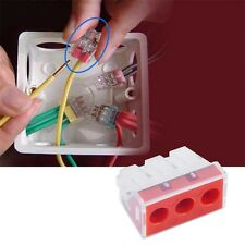 1Pcs PCT-103D Push Wire Wiring Connector 3 Pin Conductor Terminal Block JL