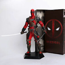 12inch Deadpool PVC statue Figure Collectible Model Toy 30cm red With Retail Box