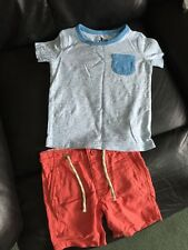 Next And Logg Outfit 12-18 Months Shorts And Tshirt