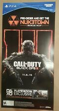 """Call of Duty Black Ops 3 Nuketown Gamestop Promo PS4 Poster 12""""x24"""" 2 Sided"""