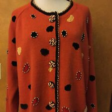 Jack B.Quick Woman's Plus U ique Beaded Sweater Size 3X