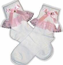 PINK Lacy Socks for Adult Baby Little Girl Sissy Dress up LEANNE