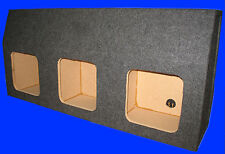 "GMC YUKON 2000-06 12"" 3 SQUARE HOLE GREY SUBWOOFER SUB ENCLOSURE BOX"